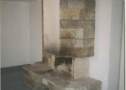 1207 Зидана камина на тераса на къща в Драгалевци. Облицовката е от обрязан гнайс.
