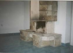 1204 Зидана камина на тераса на къща в Драгалевци. Облицовката е от обрязан гнайс.