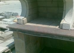 507 Барбекю на двора. Облицовката е гнайс и гранитен плот.