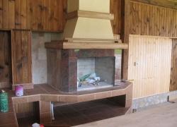 520 Барбекю в Банкя с облицовка от гранит и дървени елементи